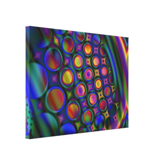 Diverse Bubble Chamber Stretched Canvas Print