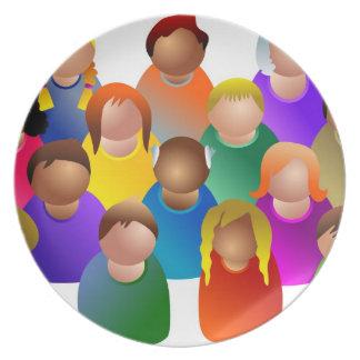 Diverse Community Melamine Plate
