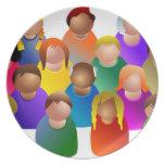 Diverse Community Party Plate