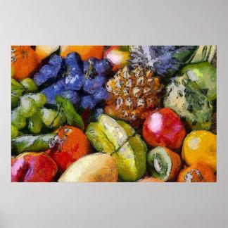 DIVERSE FRUITS VARIOUS FRUITS VERSCHIEDENE FRÜCHT PRINT
