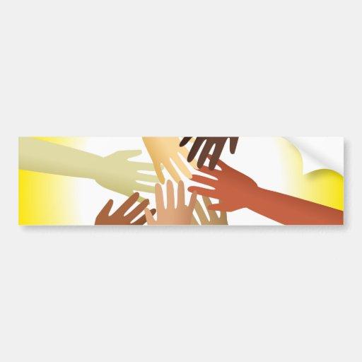 Diverse Hands Bumper Stickers