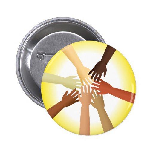 Diverse Hands Pin