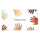Diverse Hands, Company Name Double-Sided Standard Business Cards (Pack Of 100)