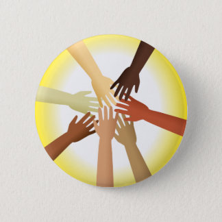Diverse Hands Pinback Button