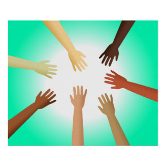 Diverse Hands Poster