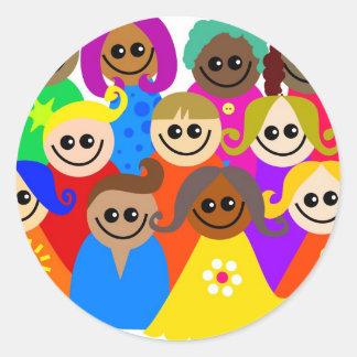 Diverse Kids Classic Round Sticker