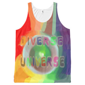 Diverse Universe All-Over Printed Unisex Tank, L All-Over-Print Tank Top