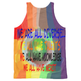 Diverse Universe We Are All Diverse Unisex Tank, L All-Over-Print Tank Top