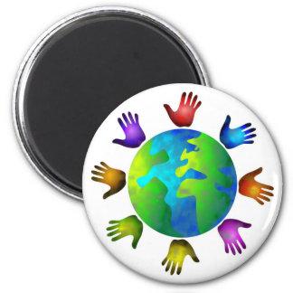 Diverse World 2 Inch Round Magnet
