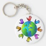Diverse World Basic Round Button Keychain