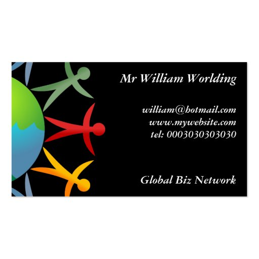 Diverse World, Double-Sided Standard Business Cards (Pack Of 100)