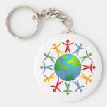 Diverse World Keychain
