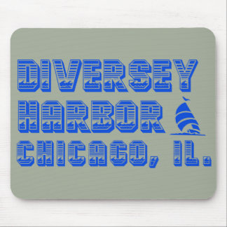 Diversey Harbor Chicago Boat Mousepad