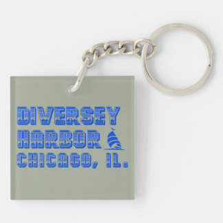 Diversey Harbor Square double-sided Keychain