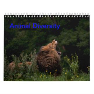 Diversidad animal calendarios
