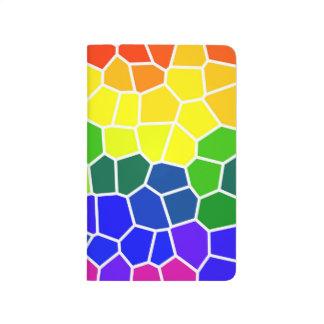 Diversidad brillante coloreada arco iris gay de cuadernos