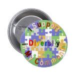 Diversidad de la ayuda en mi botón de la comunidad pin