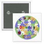 Diversidad de la ayuda en mi botón de la comunidad pin cuadrado