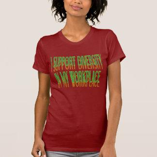 Diversidad de la ayuda en mi camiseta del lugar de