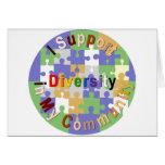 Diversidad de la ayuda en mi tarjeta de felicitaci