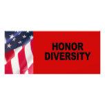 Diversidad del honor tarjetas publicitarias