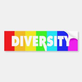 Diversidad. Diseño lesbiano gay del orgullo Pegatina Para Auto