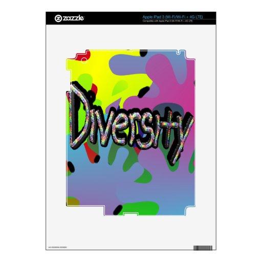 Diversidad en piel del iPad 3 de las palabras iPad 3 Skins
