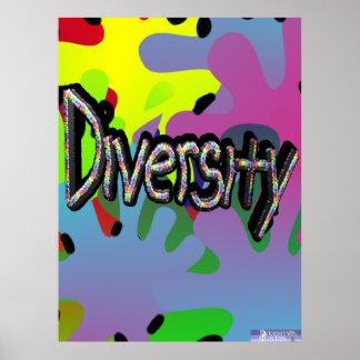 Diversidad en poster de las palabras