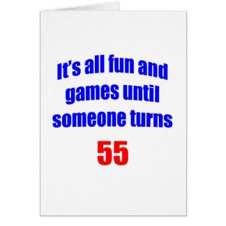 Diversión 55 y juegos tarjeta de felicitación