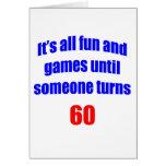 Diversión 60 y juegos felicitaciones