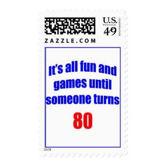 Diversión 80 y juegos sello