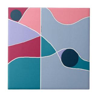 Diversión abstracta azulejo cuadrado pequeño