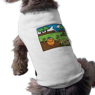 Diversión al aire libre de Sr. Tickle el   Playera Sin Mangas Para Perro