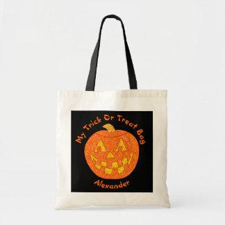 Diversión alegre de la calabaza de Halloween de la Bolsas De Mano