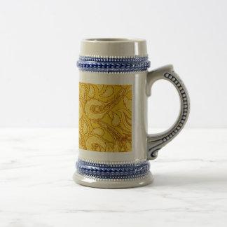 Diversión amarilla del verano del estampado de la jarra de cerveza