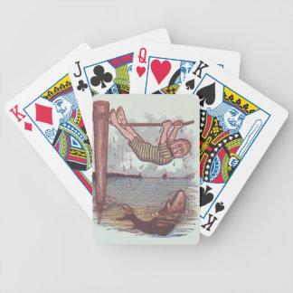 Diversión amistosa del regalo de la mordaza del ti baraja cartas de poker