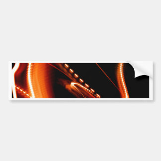 Diversión anaranjada brillante pegatina para auto