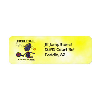 Diversión audaz de Pickleball Etiquetas De Remite
