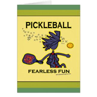 Diversión audaz de Pickleball Felicitacion