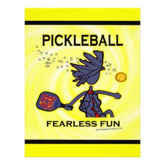 """Diversión audaz de Pickleball Folleto 8.5"""" X 11"""""""