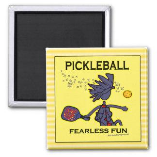 Diversión audaz de Pickleball Imanes De Nevera