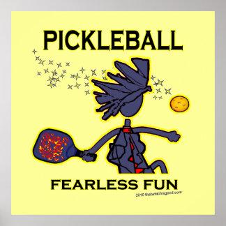 Diversión audaz de Pickleball Posters
