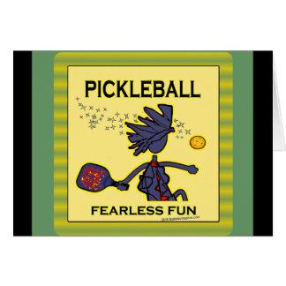 Diversión audaz de Pickleball Tarjeta