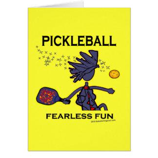 Diversión audaz de Pickleball Tarjeta De Felicitación