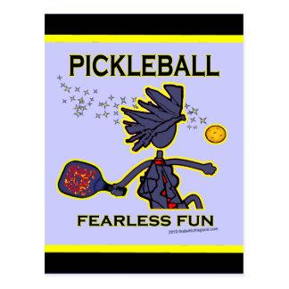 Diversión audaz de Pickleball Tarjetas Postales