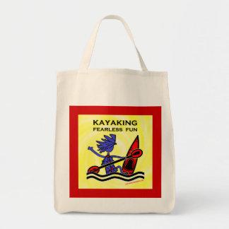 Diversión audaz Kayaking Bolsa Tela Para La Compra
