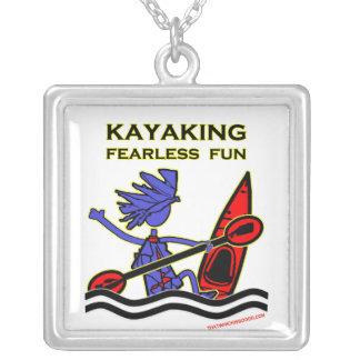 Diversión audaz Kayaking Colgante Cuadrado
