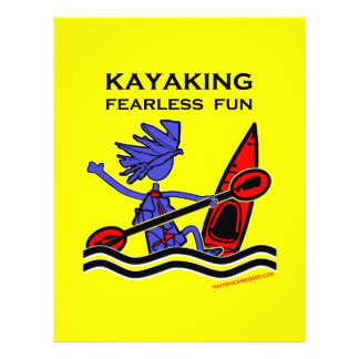 """Diversión audaz Kayaking Folleto 8.5"""" X 11"""""""