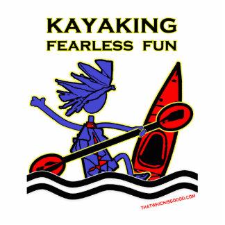 Diversión audaz Kayaking Imán Fotoescultura