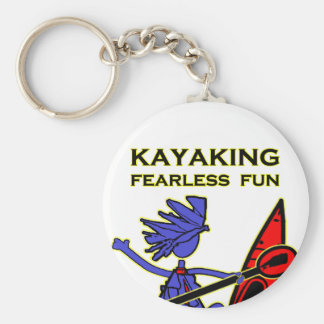Diversión audaz Kayaking Llavero Redondo Tipo Pin